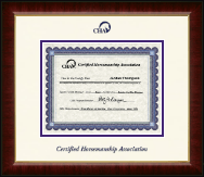 Certified Horsemanship Association Certificate Frame - Dimensions Certificate Frame in Murano