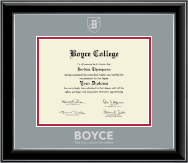 The Southern Baptist Theological Seminary Diploma Frame - Silver Embossed Diploma Frame in Onyx Silver