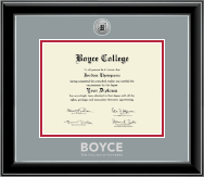 The Southern Baptist Theological Seminary Diploma Frame - Silver Engraved Medallion Diploma Frame in Onyx Silver