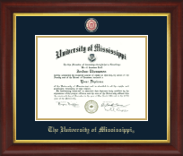 The University of Mississippi Diploma Frame - Masterpiece Medallion Diploma Frame in Redding
