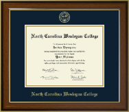 North Carolina Wesleyan College Diploma Frame - Gold Embossed Diploma Frame in Westwood