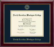 North Carolina Wesleyan College Diploma Frame - Gold Embossed Diploma Frame in Gallery