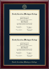 North Carolina Wesleyan College Diploma Frame - Double Diploma Frame in Gallery