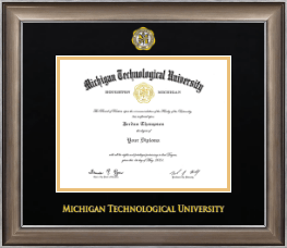 Michigan Technological University Diploma Frame - Dimensions Diploma Frame in Easton