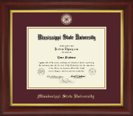 Mississippi State University Diploma Frame - Masterpiece Medallion Diploma Frame in Redding
