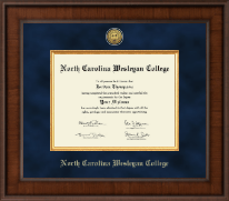 North Carolina Wesleyan College Diploma Frame - Presidential Gold Engraved Diploma Frame in Madison