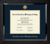 North Carolina Wesleyan College Diploma Frame - Gold Engraved Medallion Diploma Frame in Eclipse