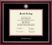 South College Diploma Frame - Masterpiece Medallion Diploma Frame in Gallery Silver