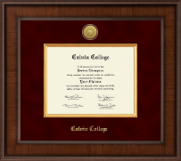 Calvin College Diploma Frame - Presidential Gold Engraved Diploma Frame in Madison