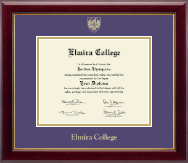 Elmira College Diploma Frame - Gold Embossed Diploma Frame in Gallery