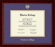 Elmira College Diploma Frame - Gold Embossed Diploma Frame in Sutton
