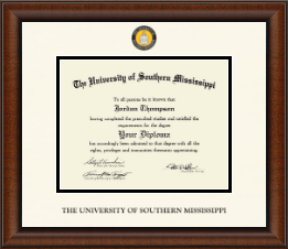 The University of Southern Mississippi Diploma Frame - Dimensions Diploma Frame in Austin