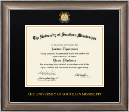 The University of Southern Mississippi Diploma Frame - Dimensions Diploma Frame in Easton