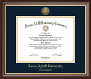 Texas A&M University - Commerce Diploma Frame - Gold Engraved Medallion Diploma Frame in Hampshire