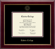 Calvin College Diploma Frame - Gold Embossed Diploma Frame in Gallery