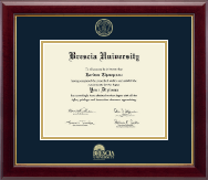Brescia University Diploma Frame - Gold Embossed Diploma Frame in Gallery