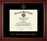 Lancaster Bible College Diploma Frame - Gold Embossed Diploma Frame in Cambridge