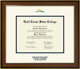 Gulf Coast State College Diploma Frame - Dimensions Diploma Frame in Westwood