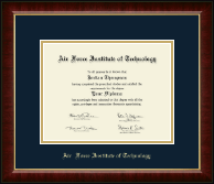 Air Force Institute of Technology Diploma Frame - Gold Embossed Diploma Frame in Murano