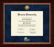 Brescia University Diploma Frame - Gold Engraved Medallion Diploma Frame in Murano