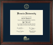 Brescia University Diploma Frame - Gold Embossed Diploma Frame in Studio