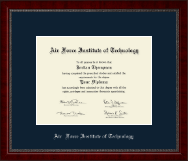 Air Force Institute of Technology Diploma Frame - Silver Embossed Diploma Frame in Sutton