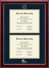 Brescia University Diploma Frame - Double Diploma Frame in Gallery