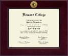 Howard College - San Angelo Diploma Frame - Century Gold Engraved Diploma Frame in Cordova