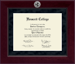 Howard College - Big Springs Diploma Frame - Millennium Silver Engraved Diploma Frame in Cordova