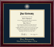 Pace University Diploma Frame - Masterpiece Medallion Diploma Frame in Gallery