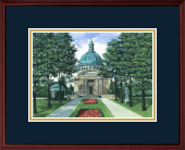United States Naval Academy Diploma Frame - Framed Lithograph in Camby
