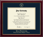 Pace University Diploma Frame - Gold Embossed Diploma Frame in Gallery