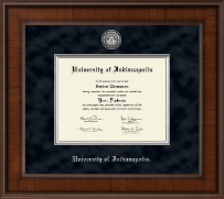 University of Indianapolis Diploma Frame - Presidential Silver Engraved Diploma Frame in Madison