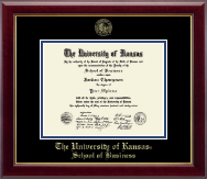 The University of Kansas Diploma Frame - Gold Embossed Diploma Frame in Gallery