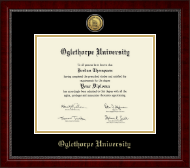 Oglethorpe University  Diploma Frame - Gold Engraved Medallion Diploma Frame in Sutton