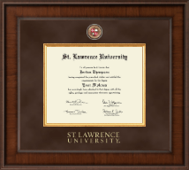 St. Lawrence University Diploma Frame - Presidential Masterpiece Diploma Frame in Madison
