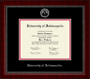 University of Indianapolis Diploma Frame - Silver Embossed Diploma Frame in Sutton