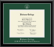 Babson College Diploma Frame - Silver Embossed Diploma Frame in Onyx Silver
