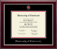University of Cincinnati Diploma Frame - Masterpiece Medallion Diploma Frame in Gallery Silver