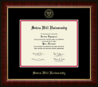 Seton Hill University Diploma Frame - Gold Embossed Diploma Frame in Murano