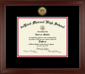 duPont Manual High School in Kentucky Diploma Frame - Gold Engraved Medallion Diploma Frame in Sierra