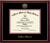 duPont Manual High School in Kentucky Diploma Frame - Gold Embossed Diploma Frame in Galleria