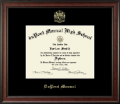 duPont Manual High School in Kentucky Diploma Frame - Gold Embossed Diploma Frame in Studio