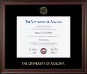 The University of Arizona Diploma Frame - Gold Embossed Diploma Frame in Studio