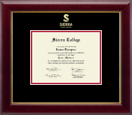 Sierra College Diploma Frame - Gold Embossed Diploma Frame in Gallery