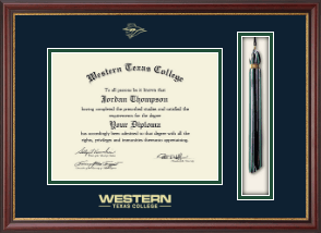 Western Texas College Diploma Frame - Tassel Edition Diploma Frame in Newport