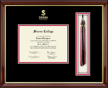 Sierra College Diploma Frame - Tassel Edition Diploma Frame in Southport Gold