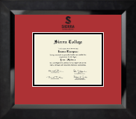 Sierra College Diploma Frame - Black Embossed Diploma Frame in Eclipse
