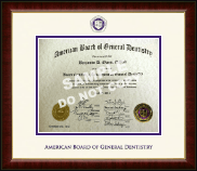 The American Board of General Dentistry Certificate Frame - Dimensions Certificate Frame in Murano