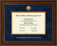United States Bankruptcy Court Certificate Frame - Presidential Gold Engraved Certificate Frame in Madison